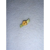 |Ribbon Rose - 6mm Gold (Pkg_6)