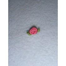 |Ribbon Rose - 6mm Mauve Silk (Pkg_6)