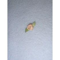 |Ribbon Rose - 6mm Toffee (Pkg_6)