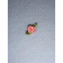 |Ribbon Rose - 8mm Dusty Rose (Pkg_6)