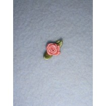 |Ribbon Rose - 8mm Dusty Rose Silk (Pkg_6)