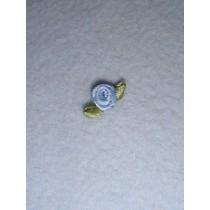 |Ribbon Rose - 8mm French Blue Silk (Pkg_6)