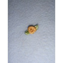 |Ribbon Rose - 8mm Gold Silk (Pkg_6)