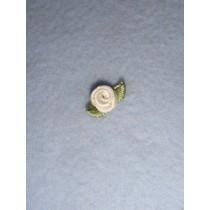 |Ribbon Rose - 8mm Ivory (Pkg_6)