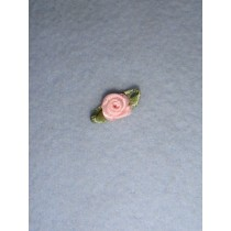 |Ribbon Rose - 8mm Light Pink Silk (Pkg_6)