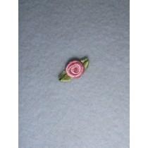 |Ribbon Rose - 8mm Mauve Silk (Pkg_6)