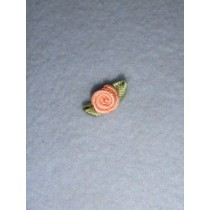 |Ribbon Rose - 8mm Peach (Pkg_6)