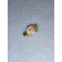 |Ribbon Rose - 8mm Toffee Silk (Pkg_6)