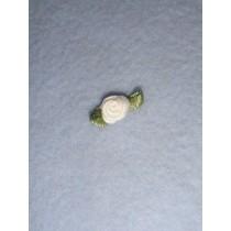 |Ribbon Rose - 8mm White Silk (Pkg_6)