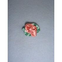 |Ribbon Rose - Large Satin Coral (Pkg_100)