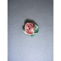 |Ribbon Rose - Large Satin Dusty Rose (Pkg_100)
