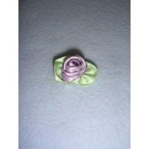 |Ribbon Rose - Large Satin Lavender (Pkg_100)