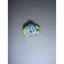 |Ribbon Rose - Large Satin Light Blue (Pkg_100)
