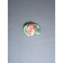 |Ribbon Rose - Large Satin Light Pink (Pkg_100)