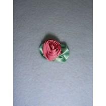 |Ribbon Rose - Large Satin Mauve (Pkg_100)