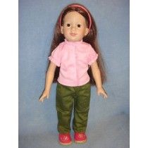 "|Ruffled Top & Pants - 18"" Dolls"