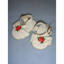 "|Sandal - 2 3_4"" White w_Rose"