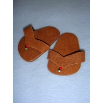 "|Sandal - 2 5_8"" Brown Suede w_Beads"