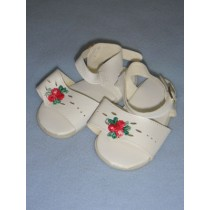 "|Sandal - 3 1_2"" White w_Rose"