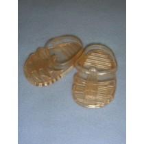 "|Sandal - Jellies - 2 3_4"" Transparent Nude"