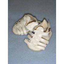 "|Sandal - Multi-Strap - 2 3_4"" White"