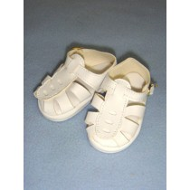 "|Sandal - w_Buckle - 2 7_8"" White"