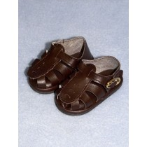 "|Sandal - w_Buckle - 3 1_4"" Brown"