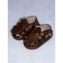 "|Sandal - w_Buckle - 3"" Brown"