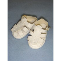 "|Sandal - w_Buckle - 3"" White"