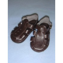 "|Sandal - w_Buckle - 4 1_2"" Brown"