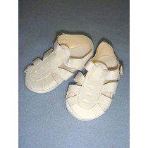 "|Sandal - w_Buckle - 4 1_2"" White"