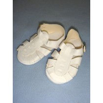 "|Sandal - w_Buckle - 4"" White"