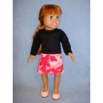 "|Shirt & Camo Skirt for 18"" Doll"