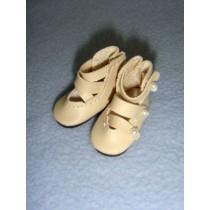 """ Shoe - 3-Strap - 1 3_8"""" Beige"""
