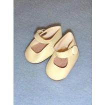 "|Shoe - Ankle Strap w_Snap - 1 7_8"" Ivory"