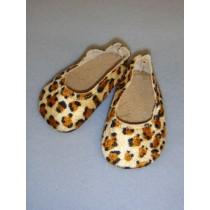 "|Shoe - Ballet Flats - 3"" Leopard Print"