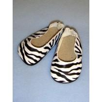 "|Shoe - Ballet Flats - 3"" Zebra Print"