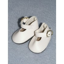 "|Shoe - Buckle - 1 3_4"" White"