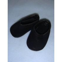 " Shoe - Clogs - 2 7_8"" Black Suede"