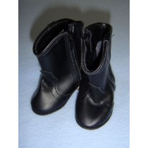 "|Shoe - Cowboy Boot - 3 1_8"" Black"