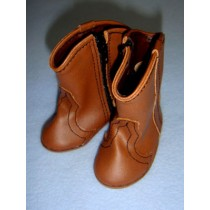 "|Shoe - Cowboy Boot - 3 1_8"" Brown"