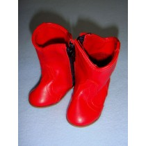 "|Shoe - Cowboy Boot - 3 1_8"" Red"