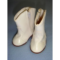 "|Shoe - Cowboy Boot - 3 1_8"" White"