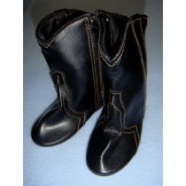 "|Shoe - Cowboy Boot - 4 1_8"" Black"