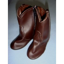 "|Shoe - Cowboy Boot - 4 1_8"" Dark Brown"
