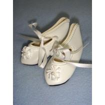 " Shoe - French Toe w_Rosette - 2 7_8"" White"