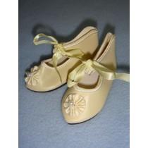 " Shoe - French Toe w_Rosette - 3 1_8"" Cream"