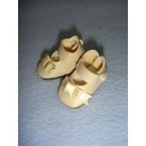 "|Shoe - German Button Strap - 1 1_4"" Cream"