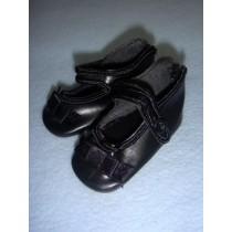 """ Shoe - German Button Strap - 3"""" Black"""