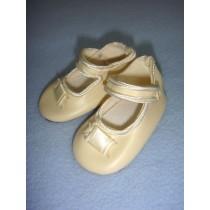 " Shoe - German Button Strap - 3"" Cream"